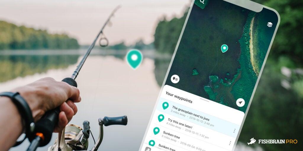 Fishbrain pro waypoints.