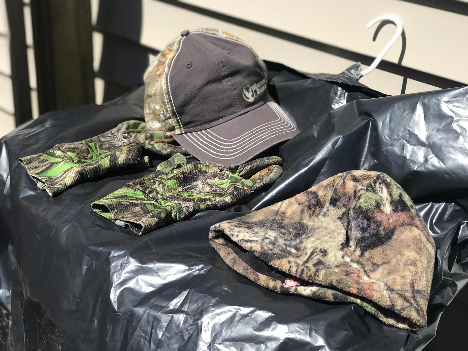 clothes to be treated for ticks.