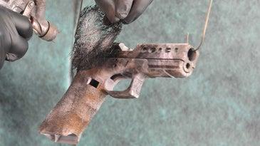 Creating a pattern on a GLOCK handgun with Cerakote.