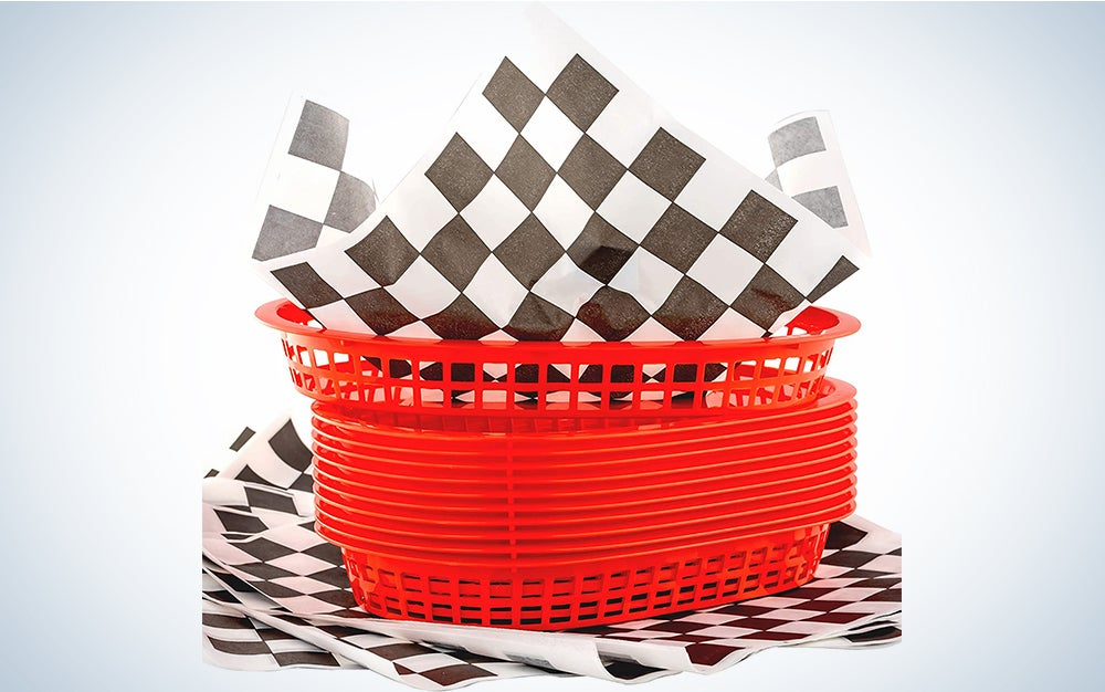 Retro Style Red Fast Food Basket