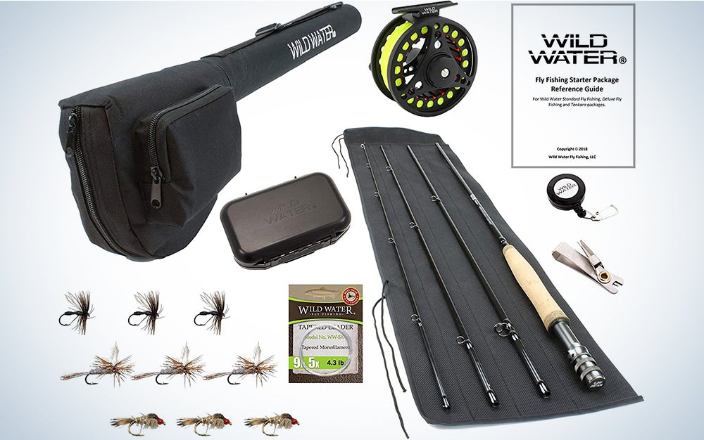 Wild Water Fly Fishing 9-foot, 4-piece, 5/6 weight fly rod Complete Fly Fishing Rod and Reel Combo Starter Package