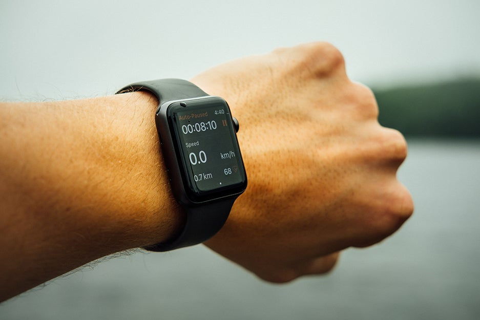 person with a smart watch