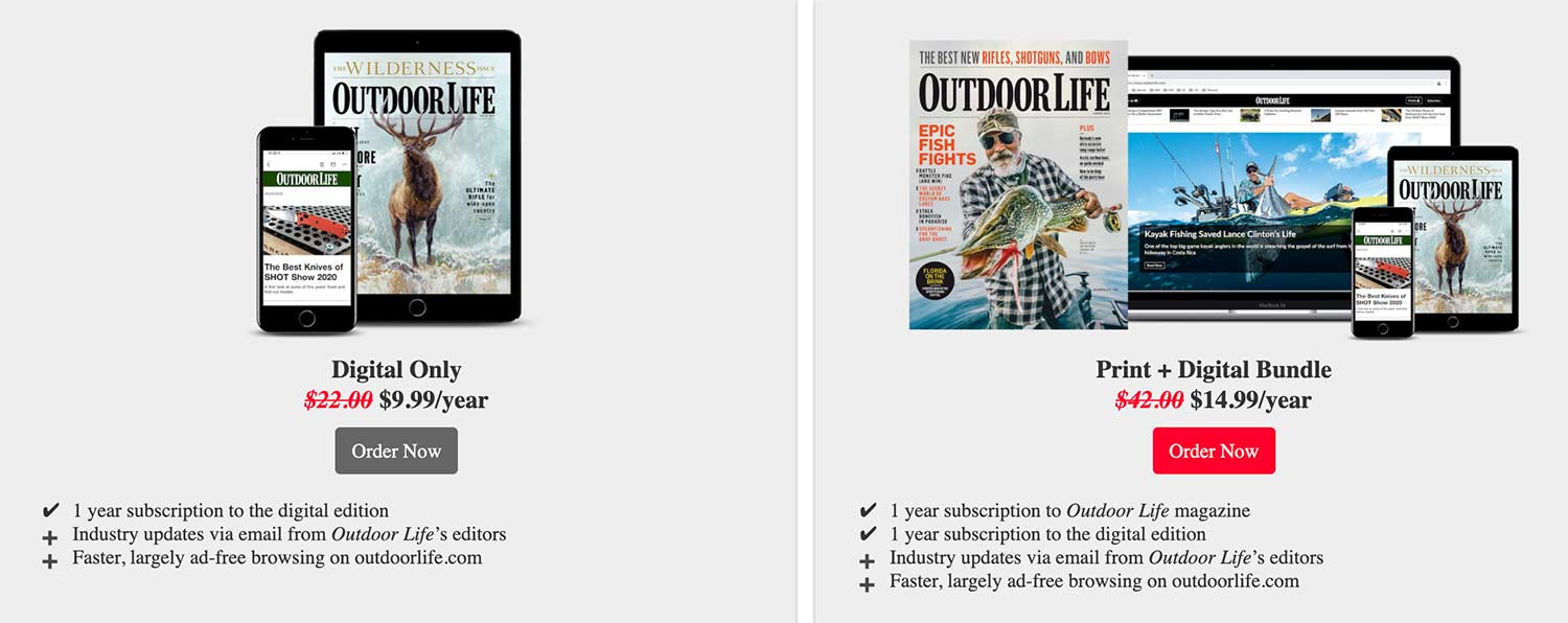 Outdoor Life Digital Subscription