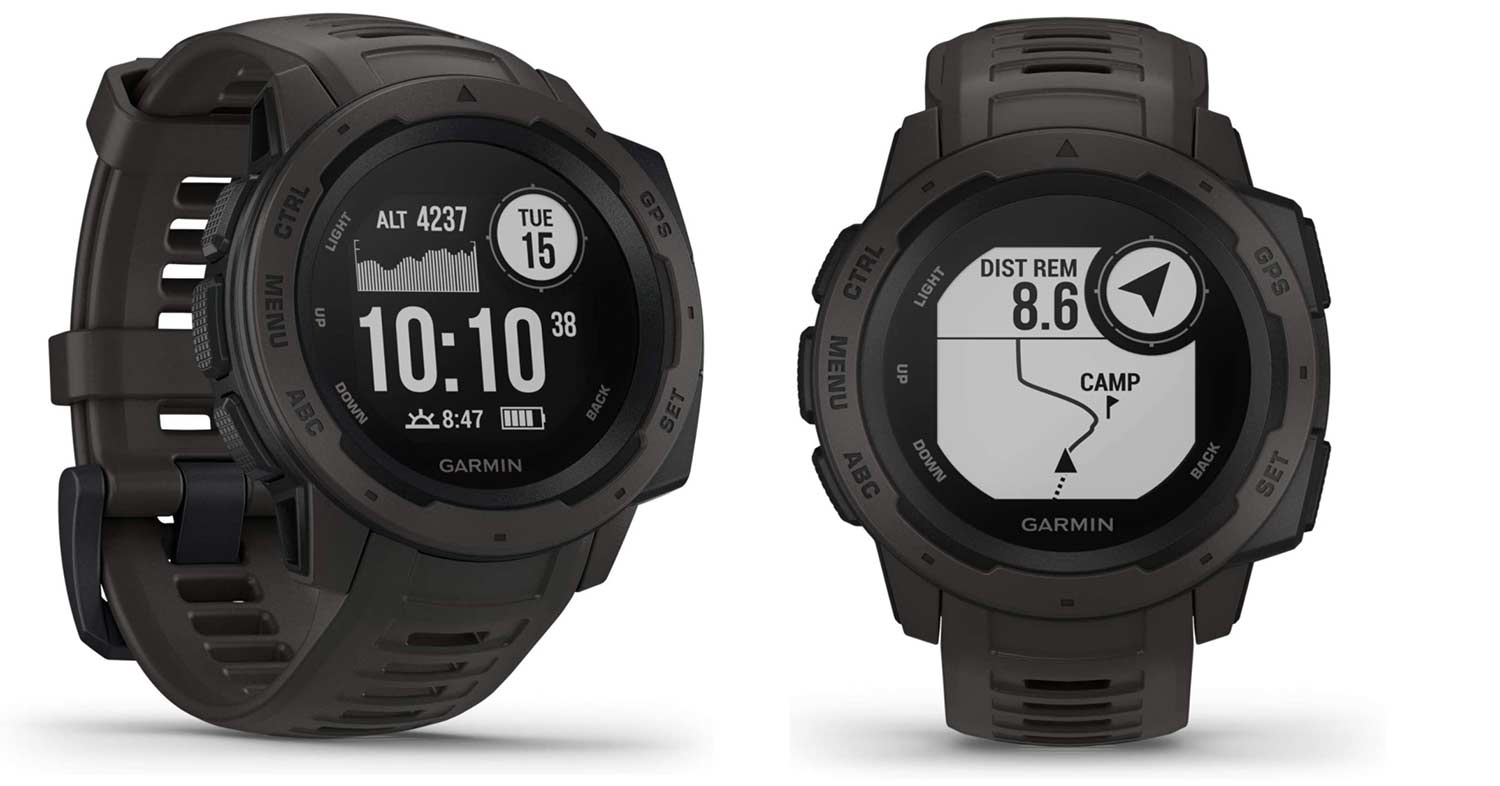 Garmin Instinct watch.