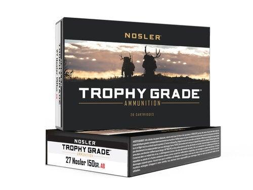 Boxes of Nosler trophy grade ammunition