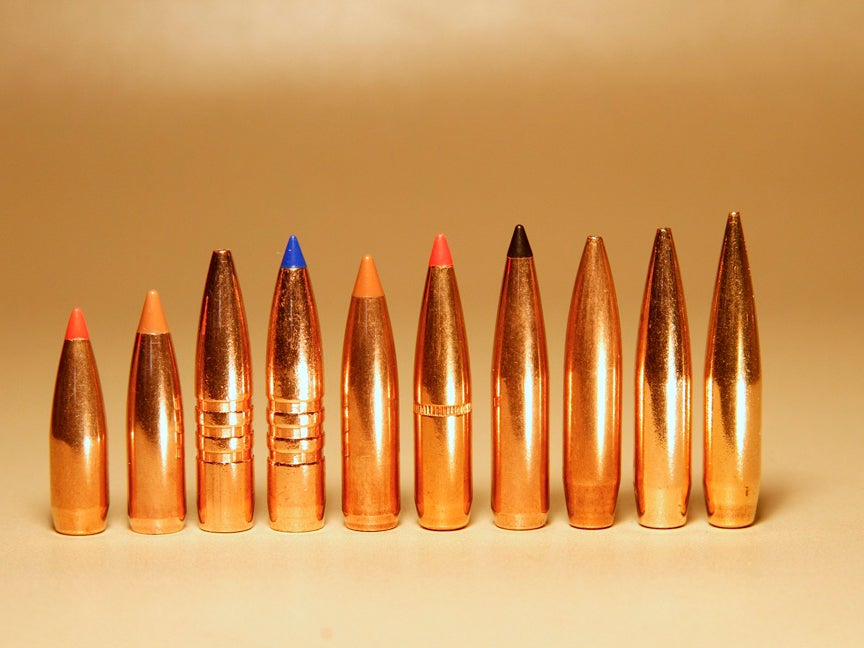A lineup of 6.5 Creedmoor and Remington ammos.