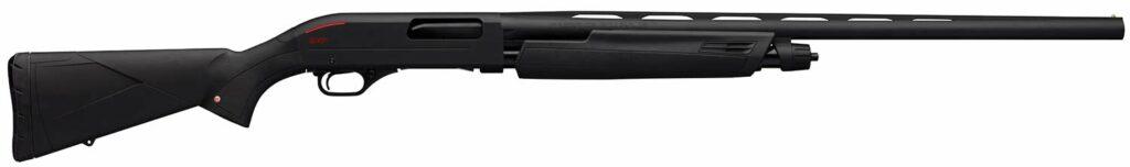 The Winchester SXP Black Pump-Action shotgun on a white background.