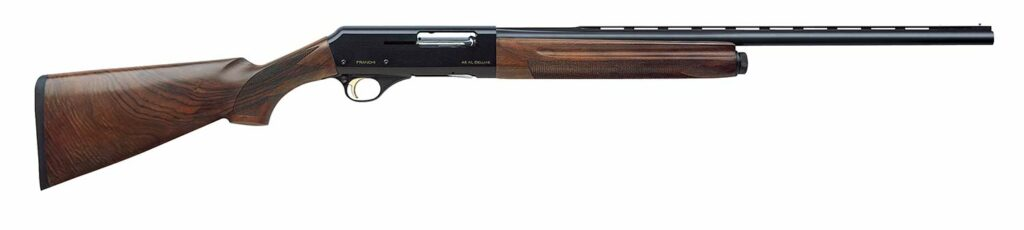A Franchi 48AL Deluxe shotgun on a white background.