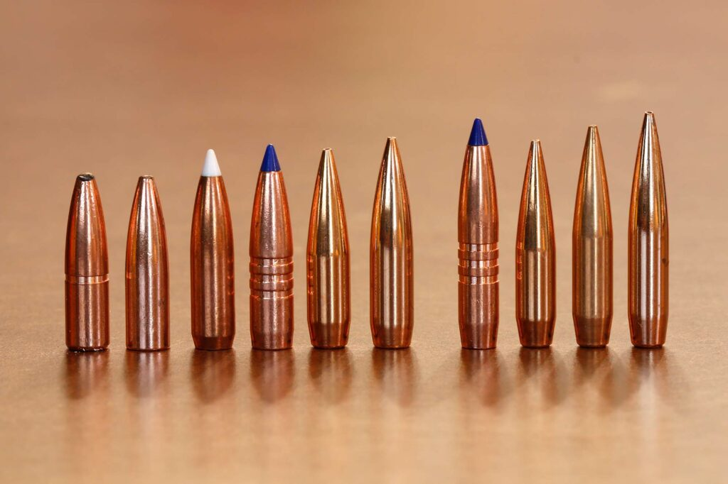 The six .308 bullets on the left don't appear to look much wider than the four .284 bullets on the right.
