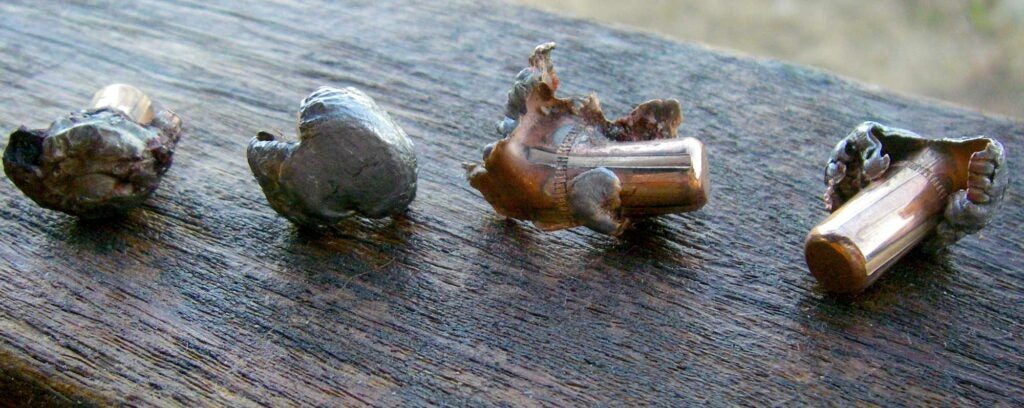 Norma Oryx bullets become something other than their original diameter micro seconds after impact.