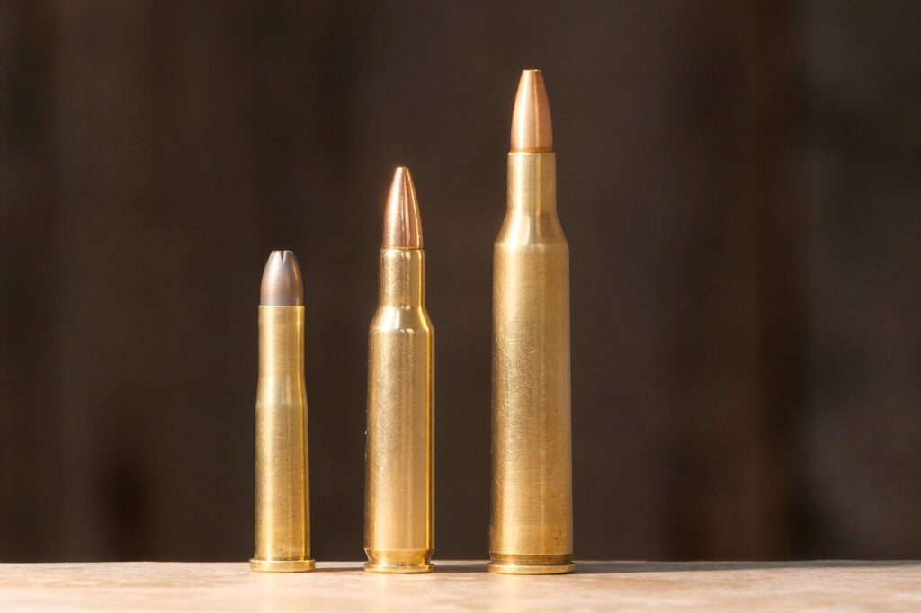 Left to right are .22 Hornet, .222 Rem., .220 Swift.