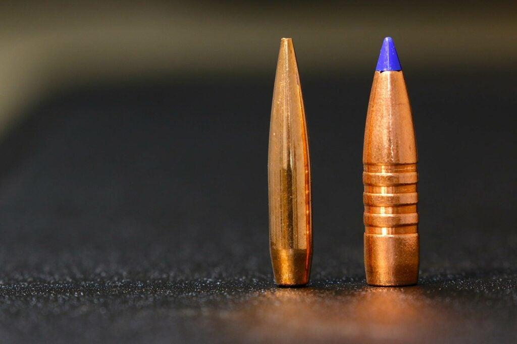 115-grain .243 inch bullet as opposed to 180-grain .308 bullet.