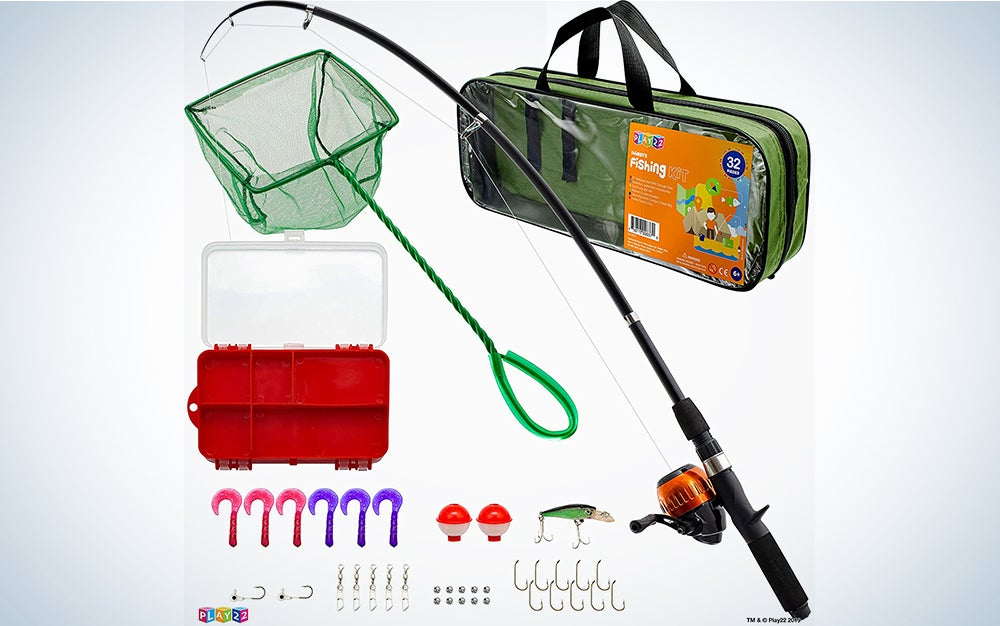 Play22 Fishing Pole For Kids - 40 Set Kids Fishing Rod Combos