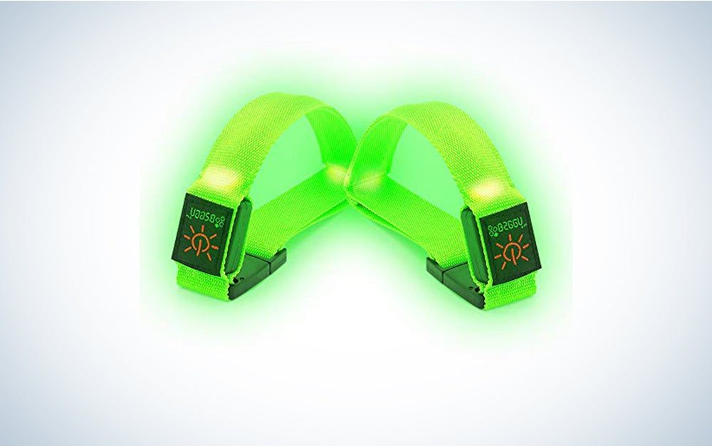 BSEEN LED Armband, Running armband, led Bracelet Glow in The Dark-Safety Running Gear