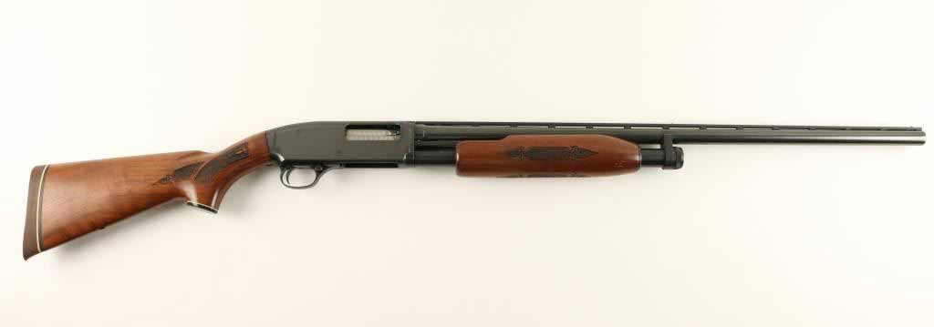 A Marlin 120 shotgun on a white background.