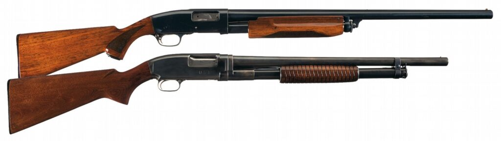 The Remington 31 was available in a sporting model and trench gun.