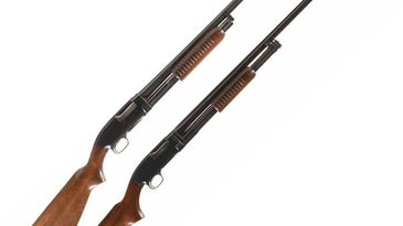 The top gun is the Winchester 25, and at bottom is the 20-gauge version of the Model 12.