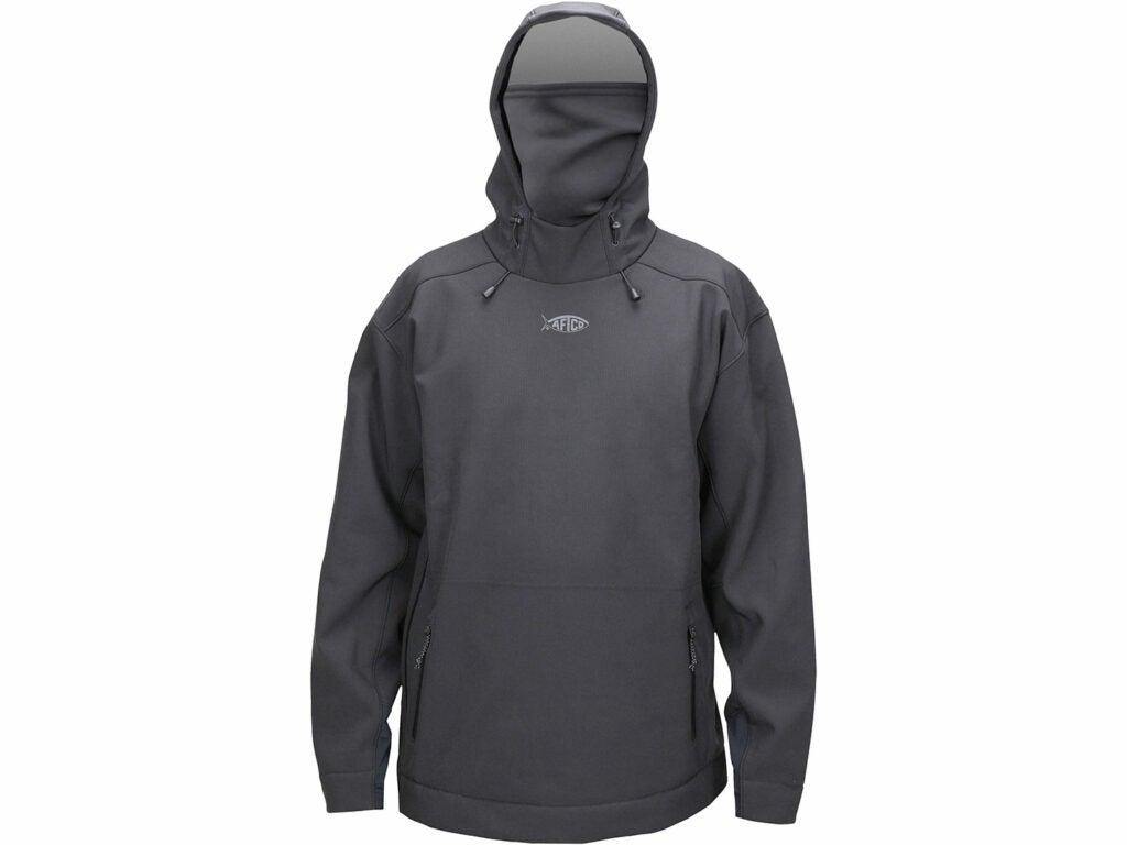 A black waterproof hoodie