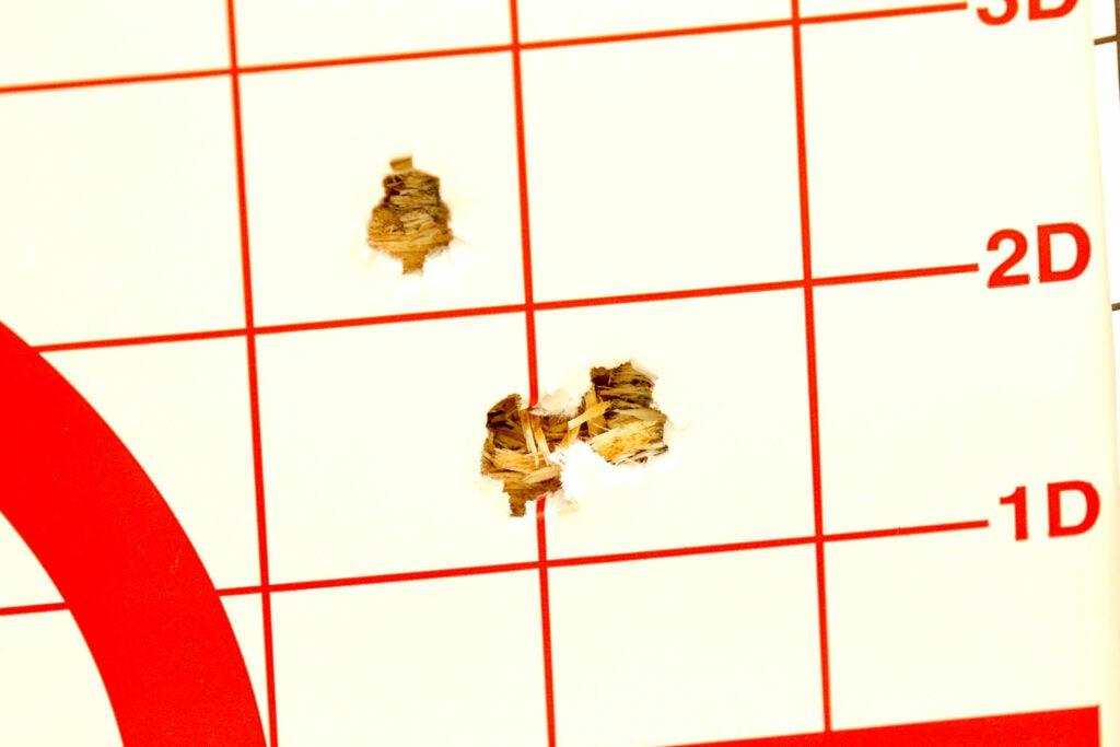 A target shot group.