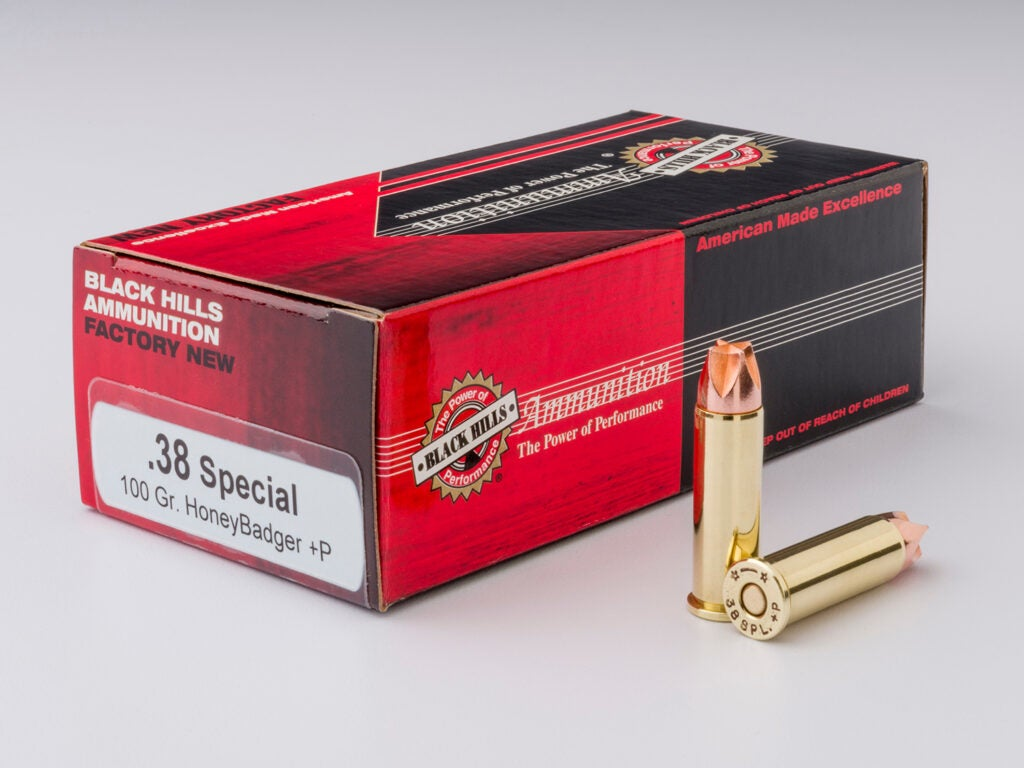 A box of .38 special ammo.