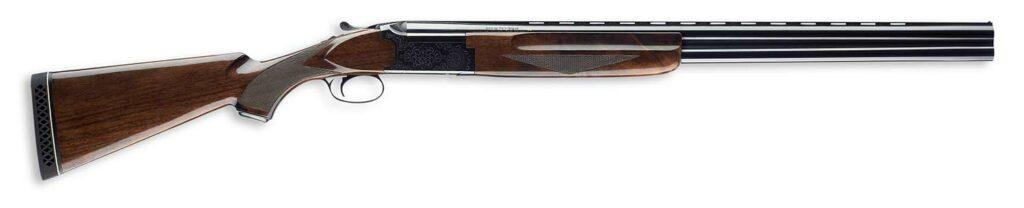 A winchester shotgun on a white background.