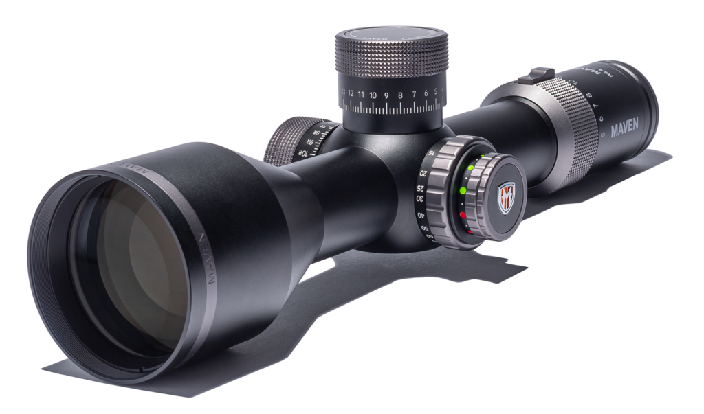 Maven RS.4 5-30x56 riflescope on a white background.