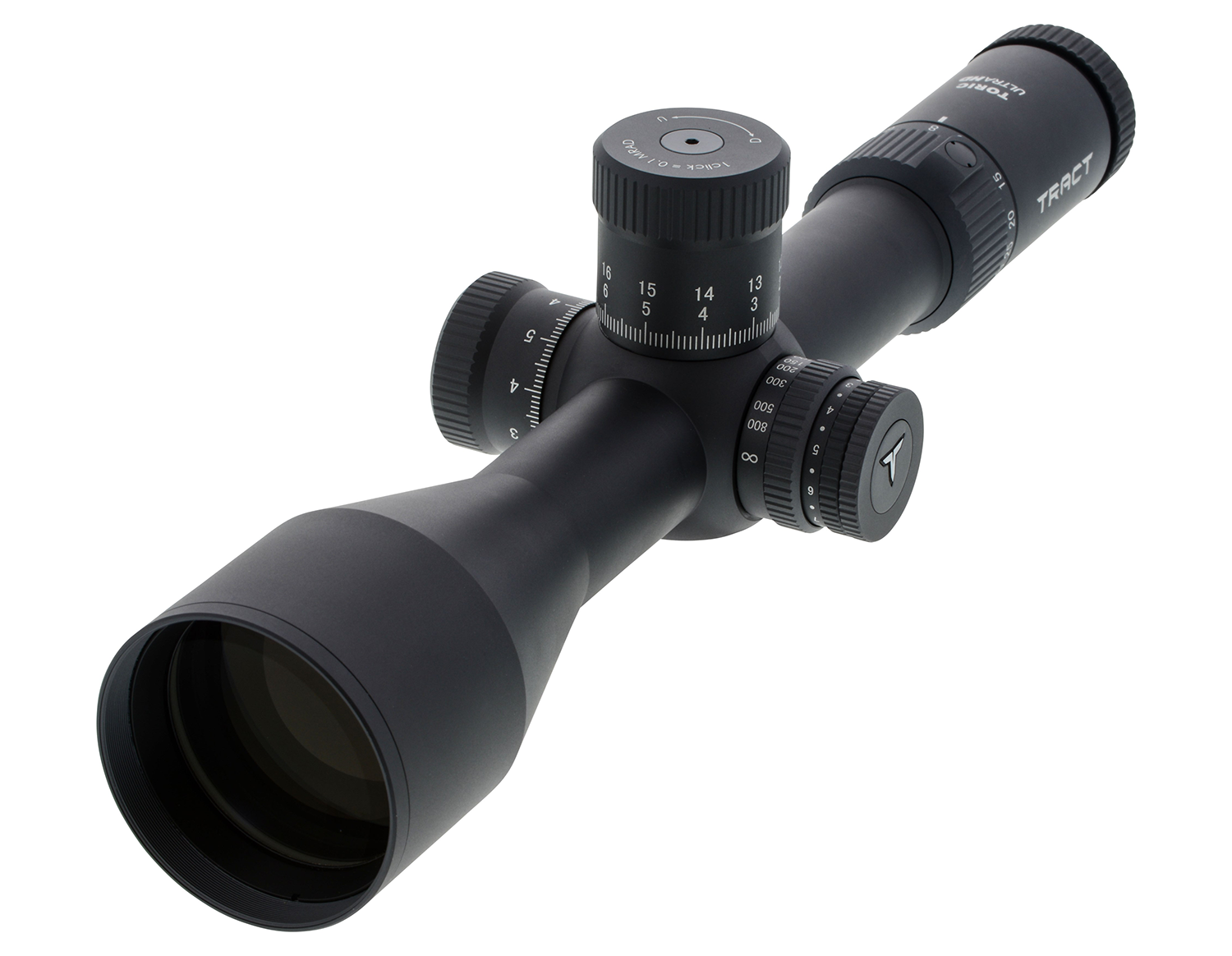 Tract Toric UHD 4.5-30x56 riflescope on a white background.