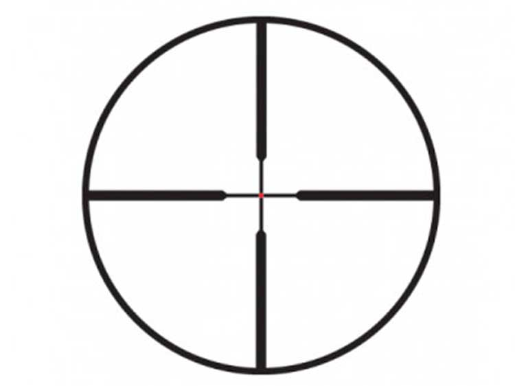 Simple illustration of a duplex reticle for riflescopes.