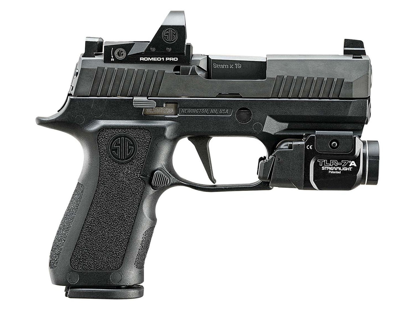 SIG Sauer P320 X-Compact RX on a white background.