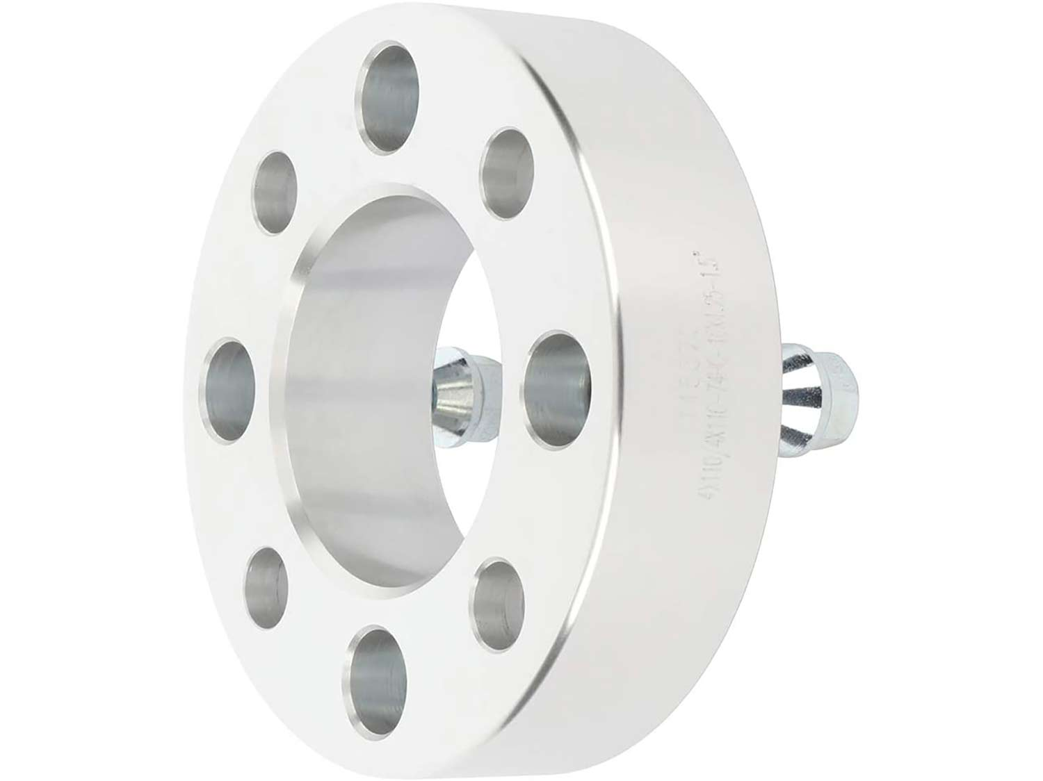 A wheel spacer for an ATV on a white background.
