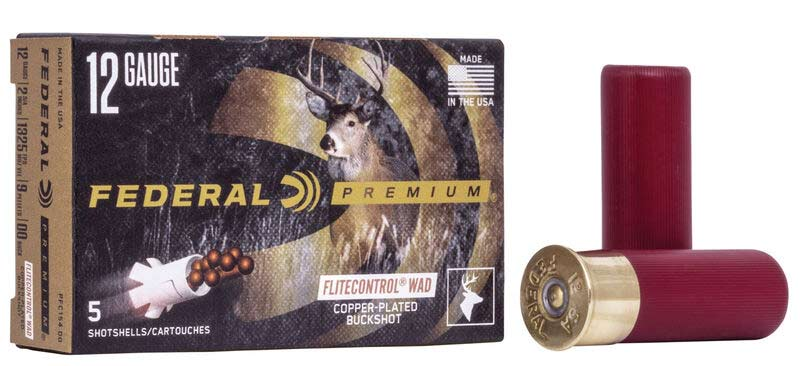 A box of Federal Premium shotgun shells.