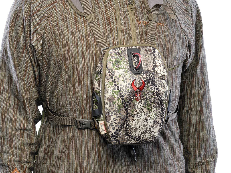Badlands Mag Bino Case on a hunting model.