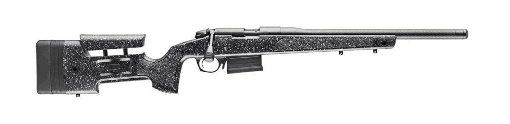 A Bergara B14R rifle on a white background.