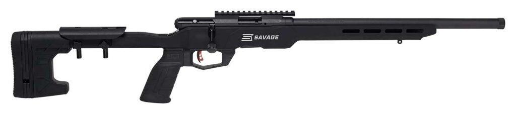 A black Bergara B22 rifle on a white background.