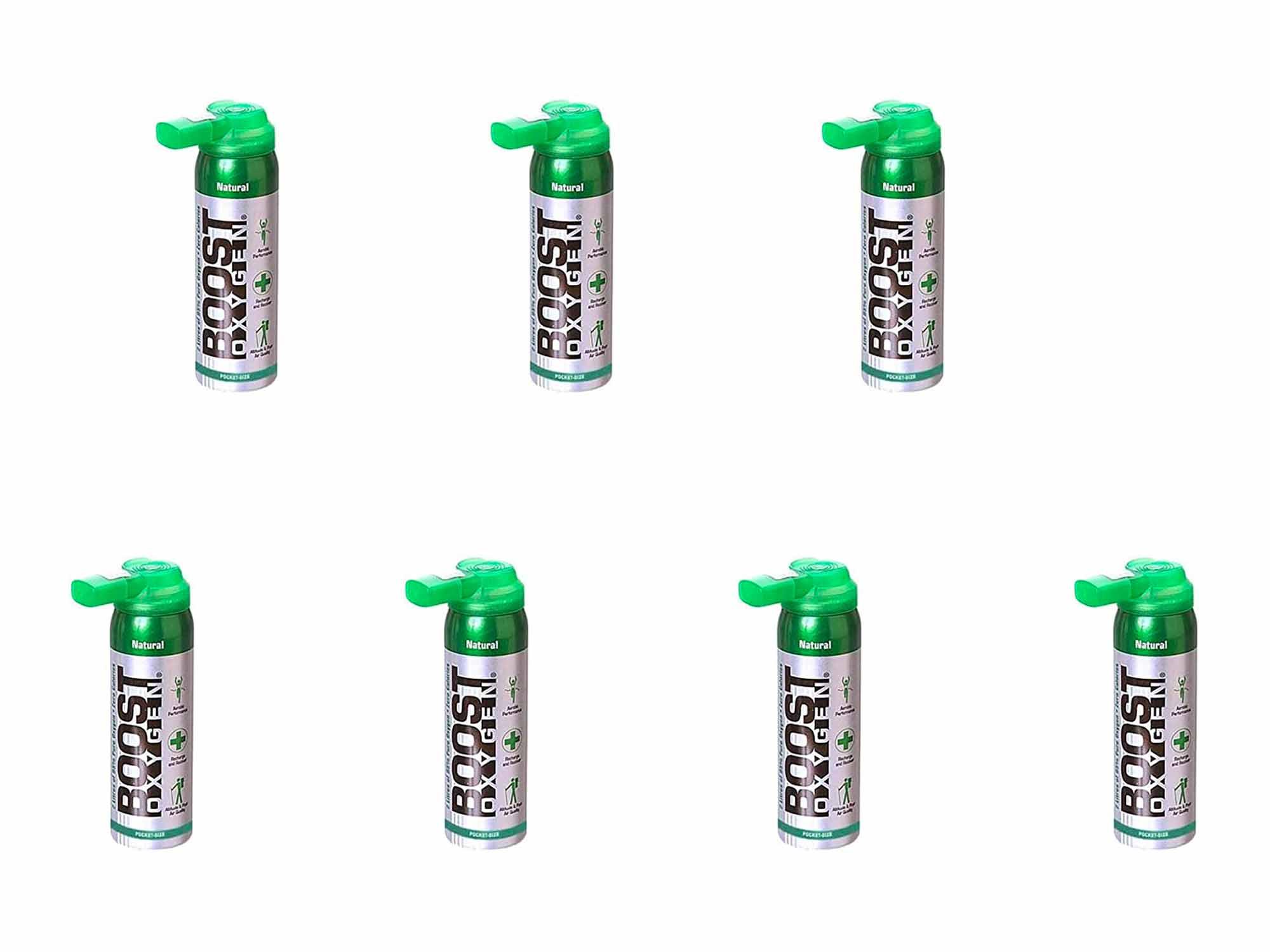 Boost Oxygen Canned 2-Liter Natural Inhaler O2 Oxygen Canister Bottle for High Altitudes, Athletes, and More, Flavorless