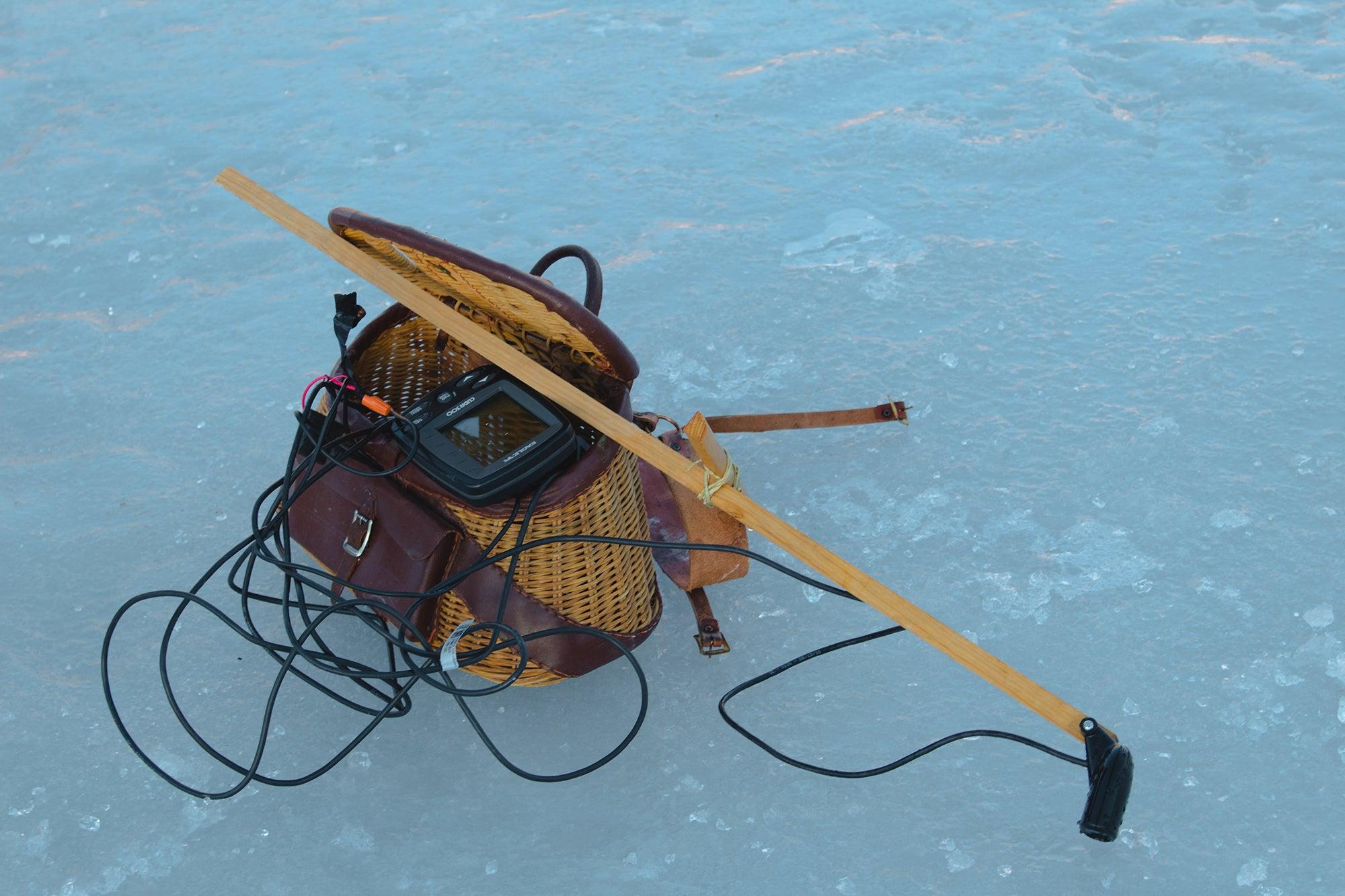 fishing gear in water