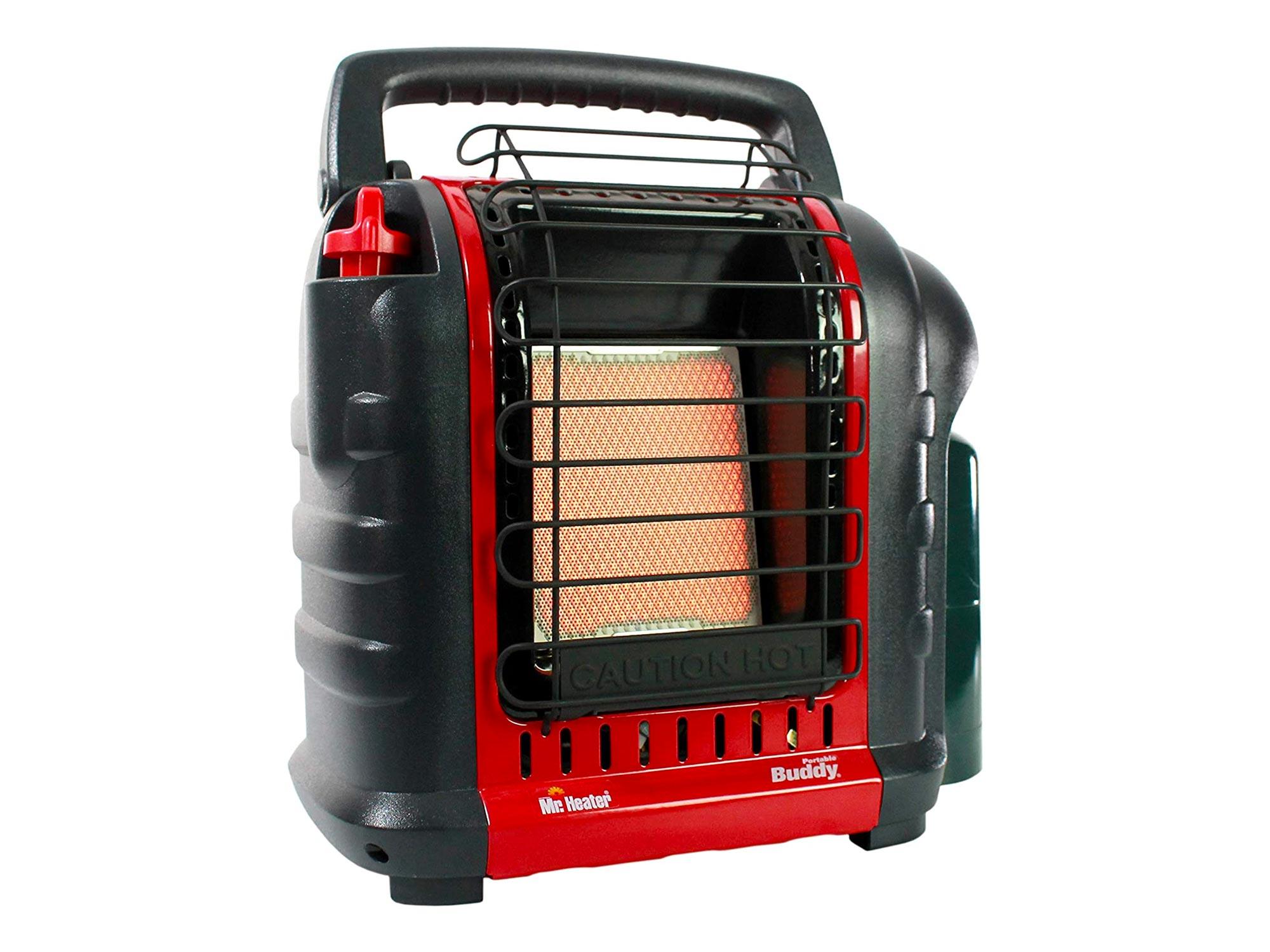 Mr. Heater Buddy 4,000-9,000-BTU Indoor-Safe Portable Propane Radiant Heater, Red-Black