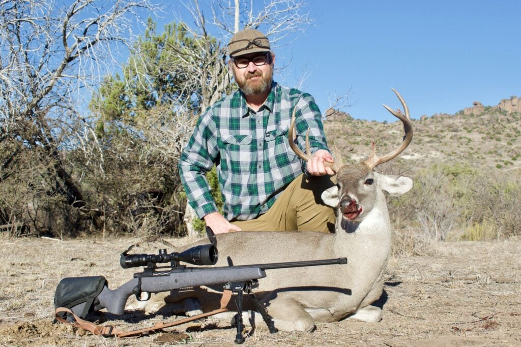 An inexpensive rifle like this Mossberg Patriot LR is plenty of gun for western hunts.