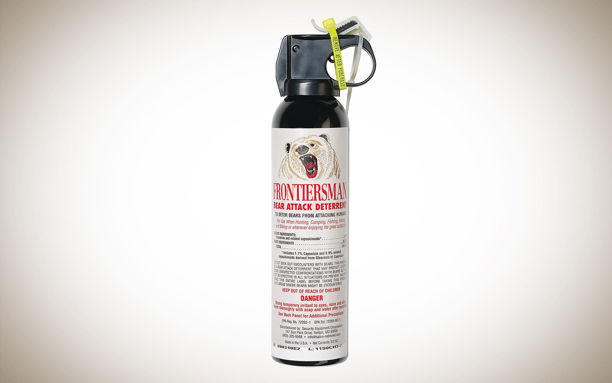 Sabre Frontiersman Bear Spray is one of the best bear deterrent options on the market.