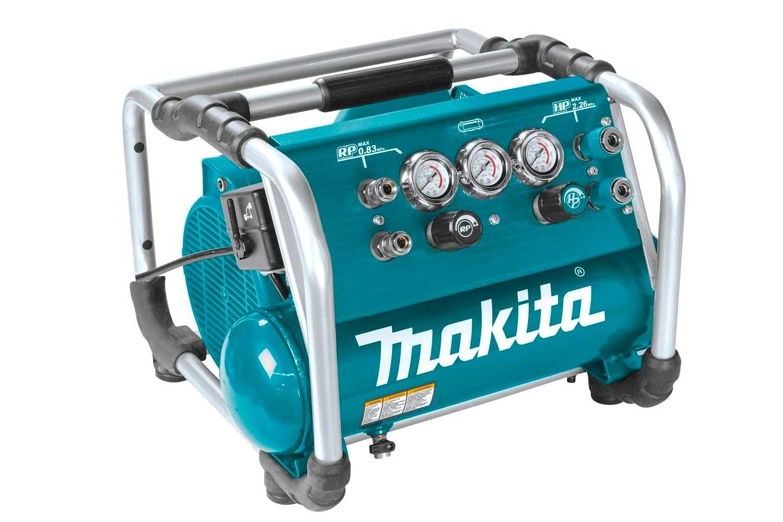 Makita 2.5HP High-Pressure Air Compressor, Makita teal, black, silver