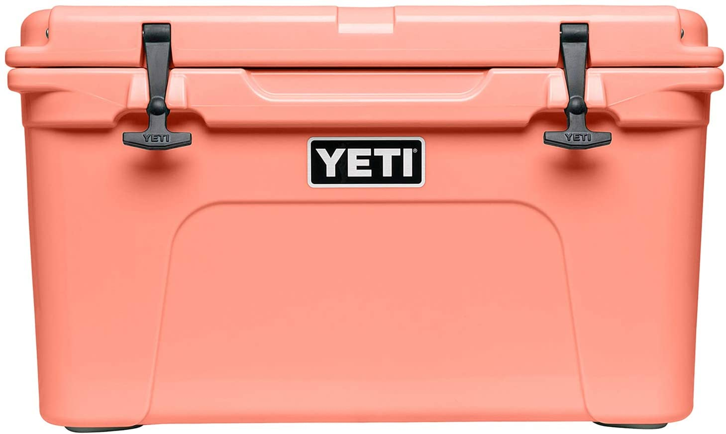A YETI cooler on a white background.