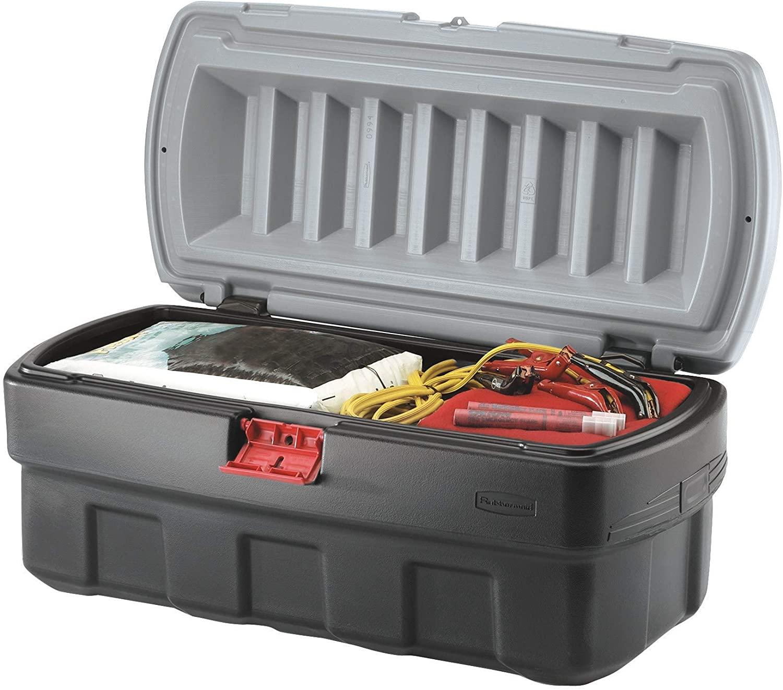 Heavy-duty grey storage bin for home organization and decluttering