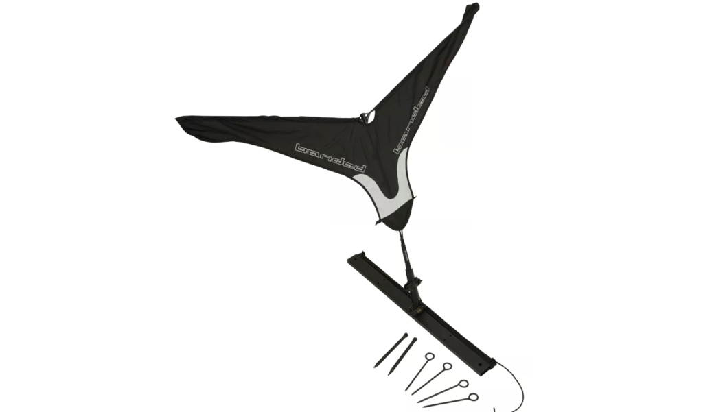 This jerk rig goose flag from Banded will get the motion away from goose hunters.