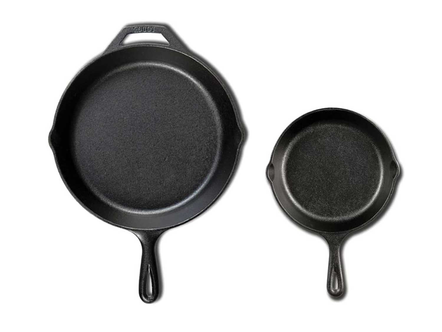 Lodge Seasoned Cast Iron Cookware Set. 2 Piece Skillet Set. (10.25 inches and 6.5 inches)