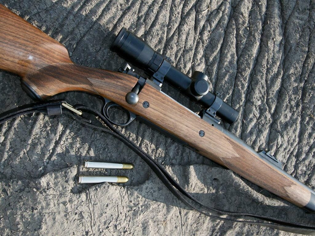A Kimber rifle in .458 Winchester Magnum