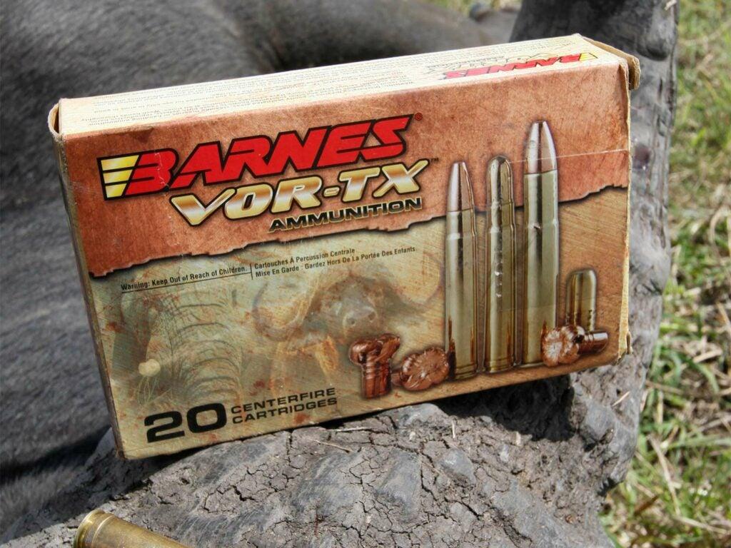 A box of Barnes VOR-TX ammo.