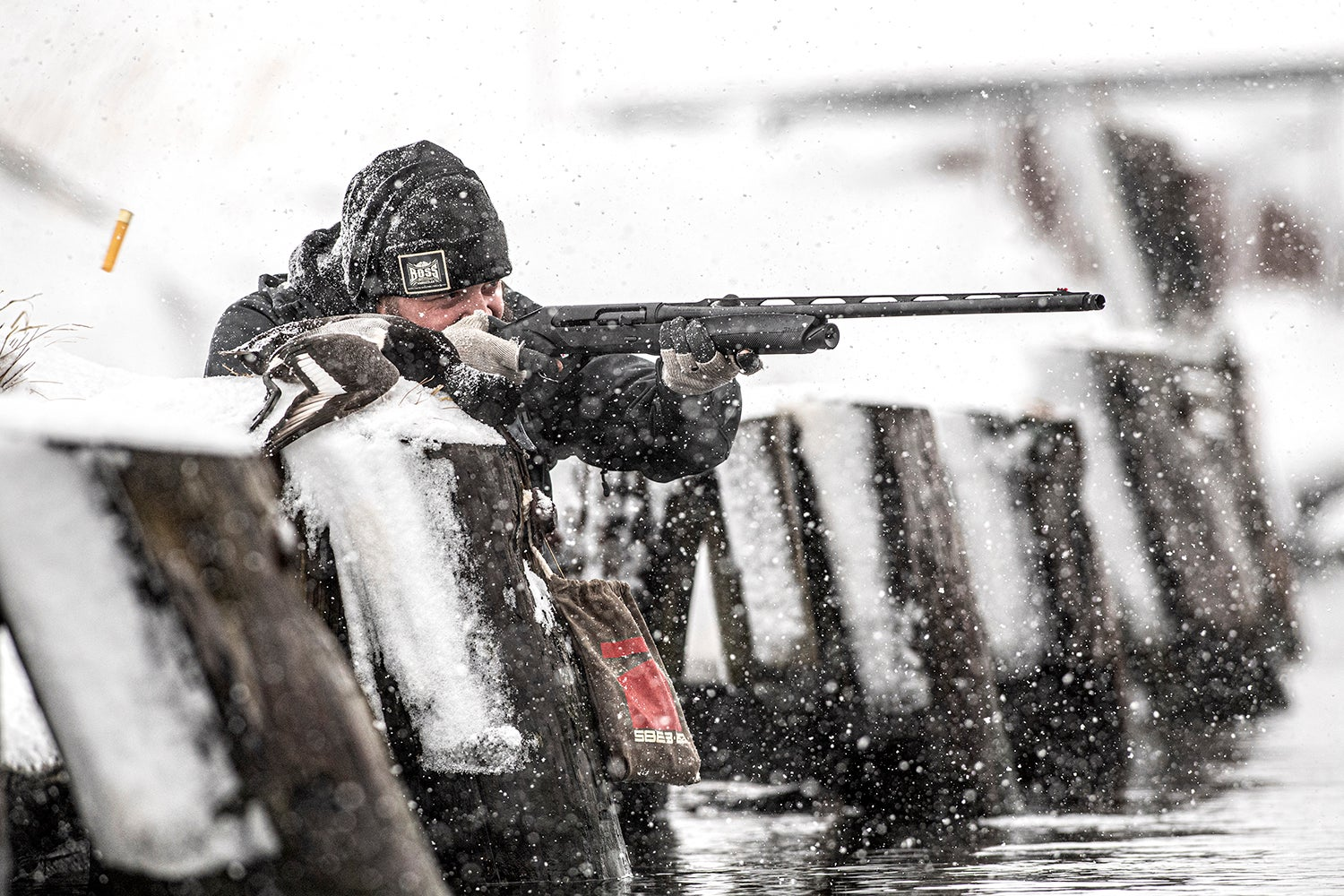 Luke Kjos takes aim with the new Benelli Super Black Eagle 3 20-gauge.