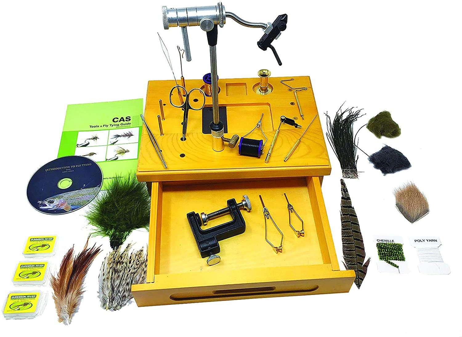 Creative Angler Wooden Fly Tying Station