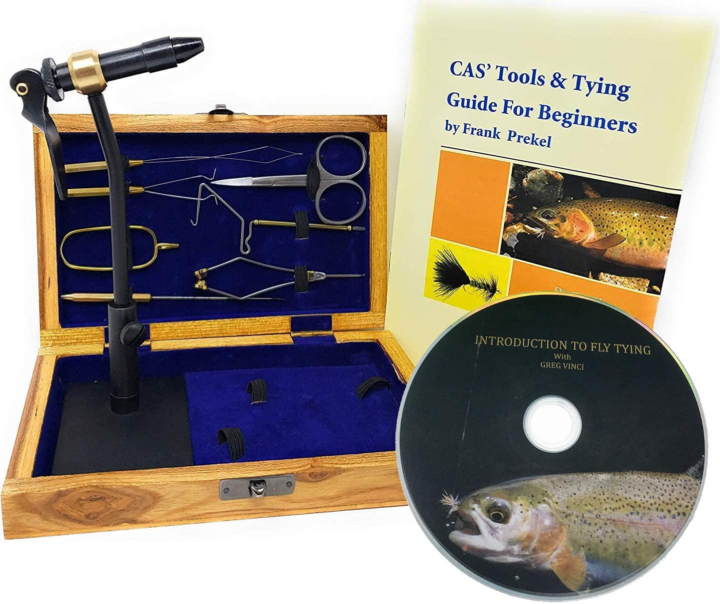 Colorado Anglers Z797 Wooden Fly Tying Standard Tool Kit, Fly Fishing Vise