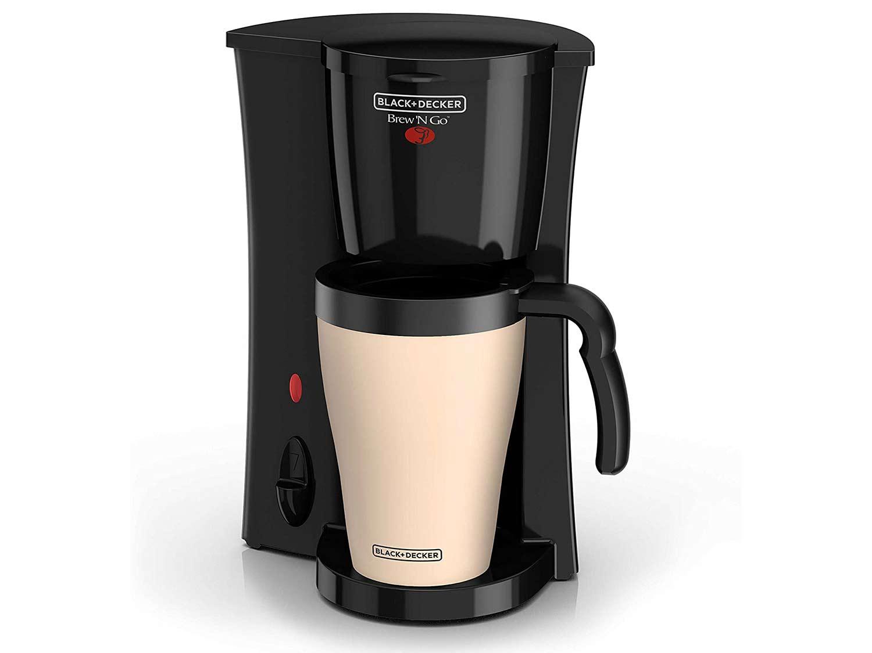 Black + Decker Single-Cup Drip Machine with Travel Mug